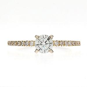 Dazzling 14K Yellow Gold .46CT Canadian Diamond Engagement Ring