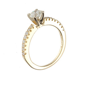 Dazzling 14K Yellow Gold .46CT Canadian Diamond Engagement Ring