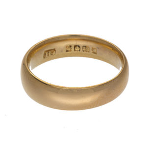 Vintage 22K Yellow Gold Comfort Fit Wedding Band