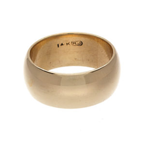 14K Yellow Gold 7.8mm Wide Classic Wedding Band