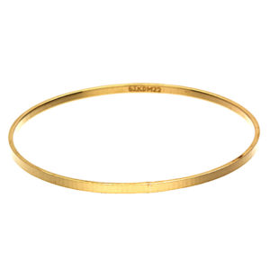 22K Yellow Gold Elegant Flat Diamond Cut Bangle