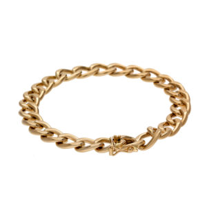 14K Yellow Gold 7.25″ Hollow Curb Link Bracelet