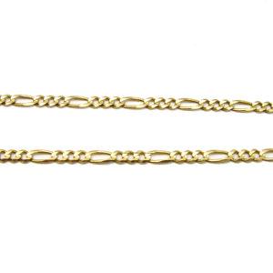 Classic 10K Yellow Gold 19″ Figaro Link Chain