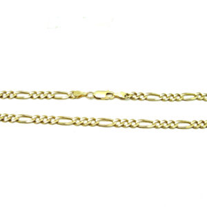 Classic 10K Yellow Gold 19″ Figaro Link Chain