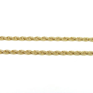 10K Yellow Gold 18.25″ Hollow Rope Link Chain