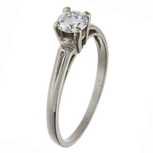 Stunning 18K White Gold .46CT Diamond Engagement Ring