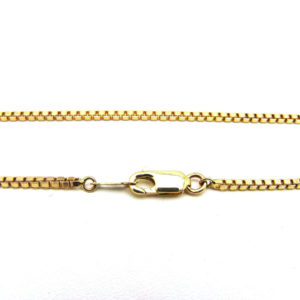 10K Yellow Gold 16.75″ Classic Box Link Chain