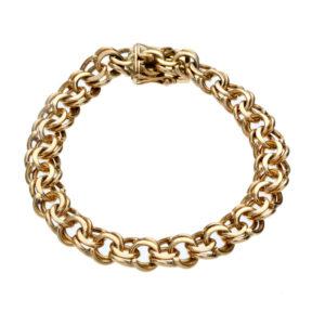 BIRKS 14K Yellow Gold 7.25″ Double Loop Link Bracelet