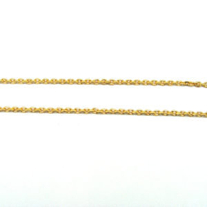 Ladies 24K Yellow Gold 17.75″ Cable Link Chain