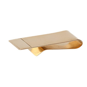 14K Yellow Gold Ribbed Top Money Clip