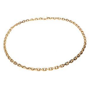 Heavy 14K Solid Yellow Gold 22.5″ Cable Link Chain