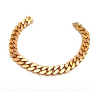 Heavy 22K Yellow Gold 6.75″ Solid Curb Link Bracelet