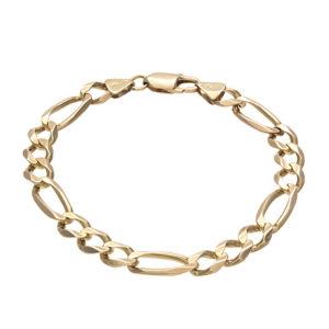 Stylish 10K Yellow Gold 8.25″ Figaro Link Bracelet