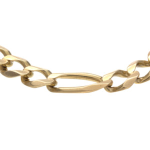 Stylish 10K Yellow Gold 8.25″ Figaro Link Bracelet