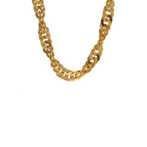 Gorgeous 22K Yellow Gold 18.25″ Singapore Link Chain