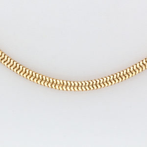 18K Yellow Gold 21.5″ Coiled Snake Link Chain