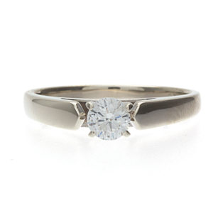 Gorgeous 14K White Gold .30CT Diamond Engagement Ring