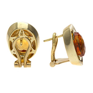 18K Yellow Gold Designer Chimento Citrine Earrings