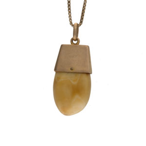 Vintage 10K Yellow Gold BPOE Elk Tooth Pendant