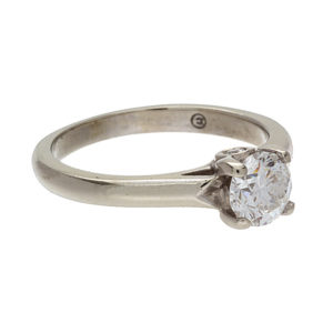 14K White Gold .72CT Diamond Solitaire Engagement Ring