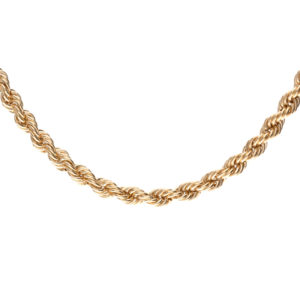 Stylish 10K Yellow Gold 21″ Rope Link Chain