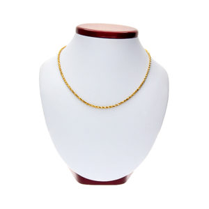 Solid 22K Yellow Gold 18″ Diamond Cut Rope Chain