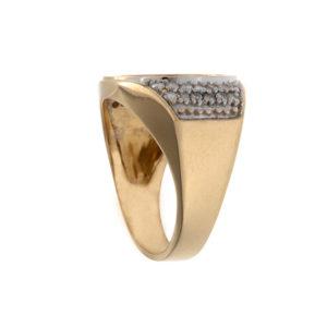 14K Yellow Gold 1/20 OZ Fine Gold 5 Yuan Chinese Panda Coin Ring