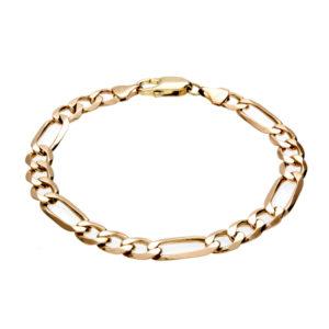 10K Yellow Gold 8″ Figaro Link Bracelet