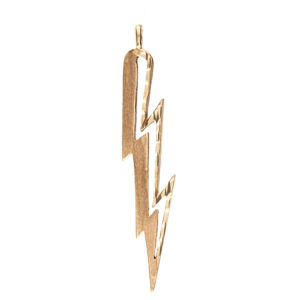 10K Yellow Gold 51mm Diamond Cut Lightning Bolt Pendant
