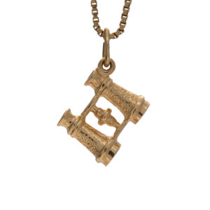Fun 10K Yellow Gold Binoculars Charm/Pendant