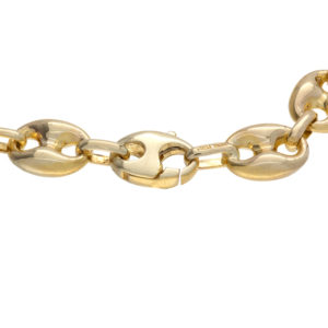 Stylish 14K Yellow Gold 8.25″ Puffed Gucci Link Bracelet