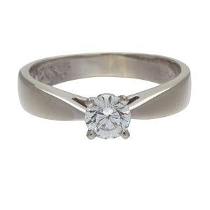 18K + Platinum .58CT Canadian Diamond Solitaire Engagement