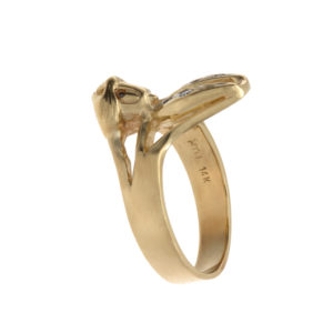 Fun 14K Yellow Gold Bugs Bunny Ring w/ Diamond Accents