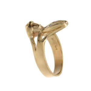 Fun 14K Yellow Gold Bugs Bunny Ring w/ Diamond Accents