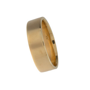 14K Yellow Gold 7mm Pipe Style Band