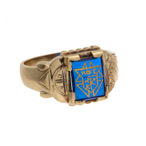 Gents 10K Yellow Gold Knights of Columbus Signet Ring