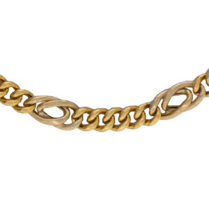 18K Yellow Gold Stylized 23.5″ Curb Link Chain