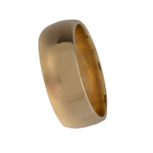 10K Yellow Gold 8mm Band Style Ring