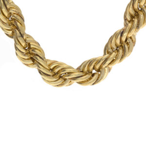 Dashing 29.5″ 14K Yellow Gold 9mm Rope Link Chain