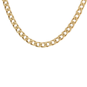 Solid 10K Yellow Gold 19″ Curb Link Chain