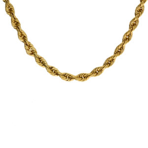 Polished 14K Yellow Gold 29.75″ Rope Link Chain