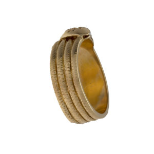 14K Yellow Gold 7.5mm Snake Band w/ .03CT Diamond
