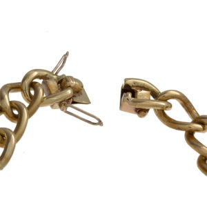 14K Yellow Gold 8″ Open Curb Link Bracelet
