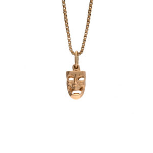 14K Yellow Gold Comedy & Tragedy Charm/Pendant