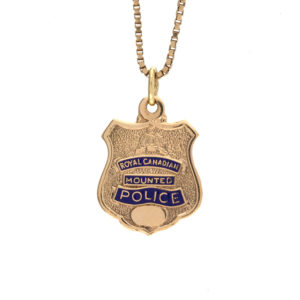 10K yellow gold 21mm Royal Canadian Mounted Police Pendant