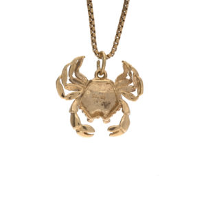 10K Yellow Gold 19mm Crab Pendant
