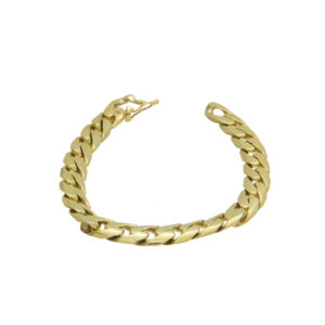 Solid 18K Yellow Gold 8″ Curb Link Bracelet