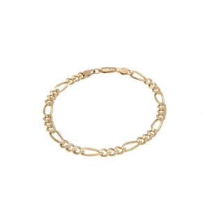 10K Yellow Gold 8.75″ Figaro Link Bracelet