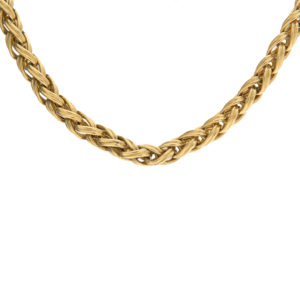 Chimento 18K Yellow Gold 17.5″ Open Braided Link Chain