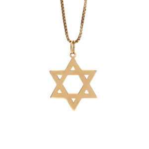 10K Yellow Gold 25mm Star of David Pendant